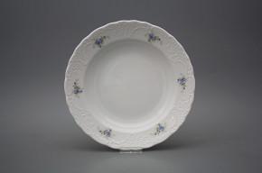 Deep plate 24cm Opera Light blue roses BB