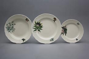 Plate set Rokoko ECRU Herbs 18-piece CBB