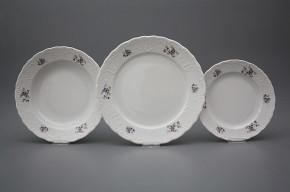 Plate set Opera Scatter Violets 18-piece BB