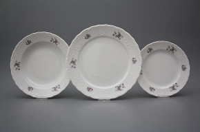 Plate set Opera Scatter Violets 24-piece BB