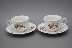 Tea cup 0,18l with saucer Ofelia Strawberries BB