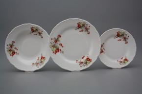 Plate set Ofelia Strawberries 12-piece CBB