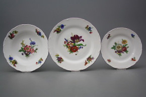 Plate set Ofelia Bouquet 18-piece GFL