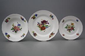 Plate set Ofelia Bouquet 24-piece GFL
