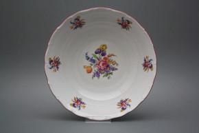 Deep dish 25cm Ofelia Bouquet with irisies FRL
