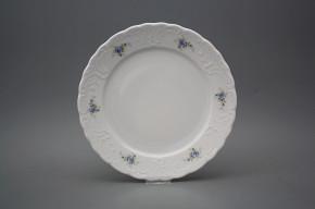 Flat plate 24cm Opera Light blue roses BB