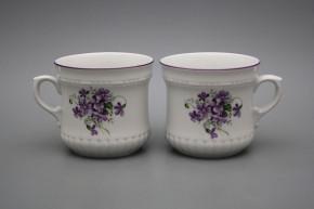 Pearl mug big 0,37l Violets FL