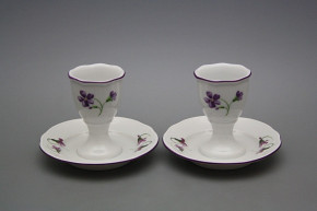 Egg cup with stand Rokoko Violets FL