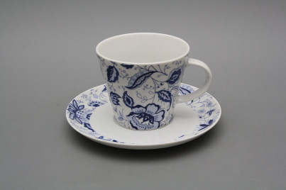Cup high 0,2l with saucer Tom Blue Persia BB č.1