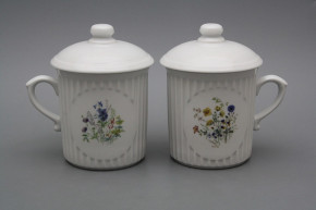Mug Mozart 0,25l with cover Flowering meadow BB