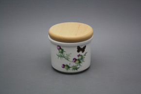 Box with wooden cover A - small Thistle BB
