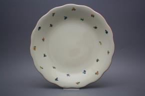 Flat round dish 32cm Alaska ECRU Sprays ACL