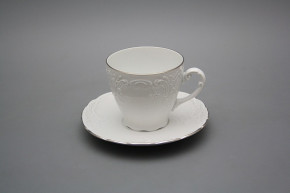 Coffee cup 0,15l and saucer Opera Platinum