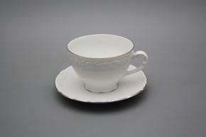 Tea cup 0,17l and saucer Opera Platinum