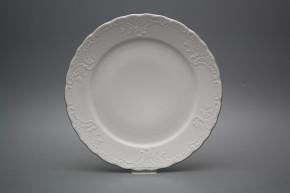 Flat plate 26cm Opera Platinum