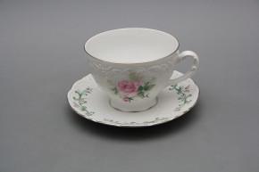Tea cup 0,17l and saucer Opera Claremont PL