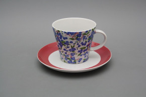 Cup high 0,2l with saucer Tom Forget-me-not DP