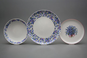 Plate set Tom Forget-me-not 24-piece BB