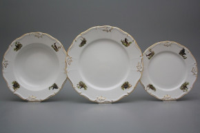 Plate set Marie Louise Gamekeepers 12-piece AGL