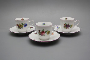 Cup high 0,135l with saucer Ofelia Bouquet FL
