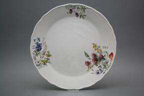 Flat round dish 30cm Rokoko Flowering meadow CBB