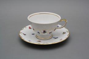 Tea cup 0,18l and saucer Maria Teresa Bouquet Sprays GL