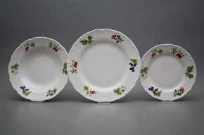 Plate set Ofelia Forest berries 18-piece ABB
