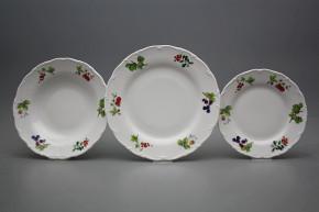 Plate set Ofelia Forest berries 36-piece ABB