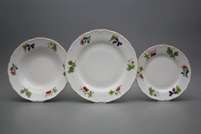 Plate set Ofelia Forest berries 18-piece ACL