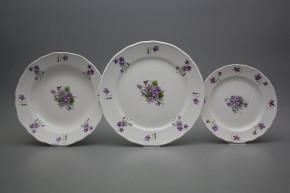 Plate set Rokoko Violets 24-piece JBB