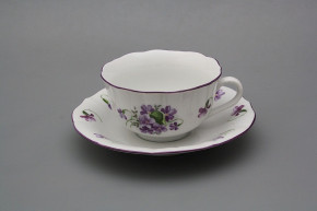Cup low with saucer C1ZC1 Rokoko Violets FL