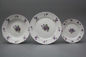 Plate set Rokoko Violets 18-piece JFL