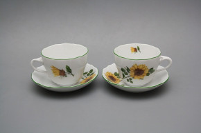 Cup high with saucer A2A1 Rokoko Sunflowers ZL