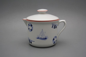 Big mug Varak with spout and cover Nautical CL