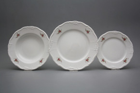 Plate set Marie Louise Pink roses 12-piece EBB
