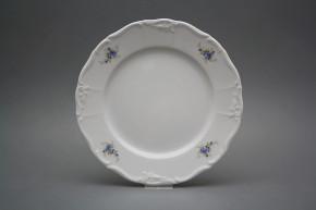 Flat plate 25cm Marie Louise Light blue roses EBB