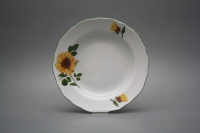 Deep plate 24cm Rokoko Sunflowers CZL
