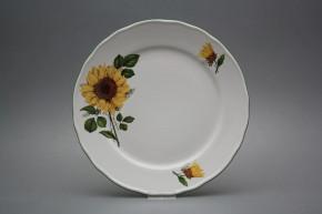 Flat plate 26cm Rokoko Sunflowers CZL