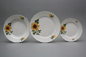 Plate set Rokoko Sunflowers 18-piece CZL
