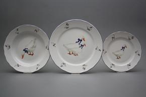 Plate set Rokoko Geese 12-piece FML