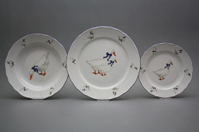 Plate set Rokoko Geese 36-piece FML