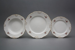 Plate set Marie Louise Pink roses 18-piece EGL LUX