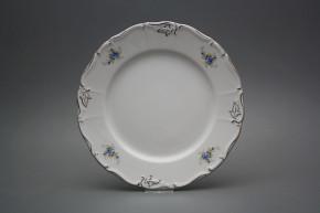 Flat plate 25cm Marie Louise Light blue roses EPL