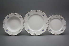Plate set Marie Louise Light blue roses 36-piece EPL