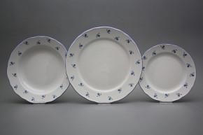 Plate set Rokoko Forget-me-not Sprays 12-piece AAL