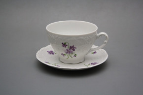 Tea cup 0,17l and saucer Opera Violets BB