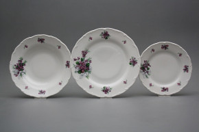 Plate set Ofelia Sweet violets 18-piece KBB