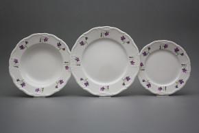 Plate set Marie Louise Violets 18-piece KBB