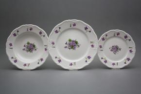 Plate set Marie Louise Violets 24-piece JBB