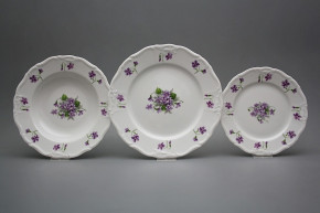 Plate set Marie Louise Violets 36-piece JBB